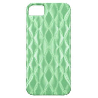 薄緑キルトにされたサテン iPhone SE/5/5s ケース