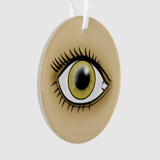 薄茶色の目アイコン オーナメント