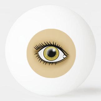 薄茶色の目アイコン 卓球ボール