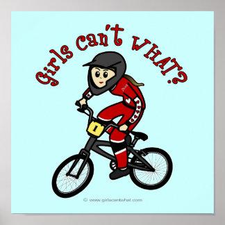 薄赤の女の子BMX ポスター
