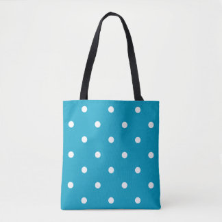 薄青い水玉模様 トートバッグ
