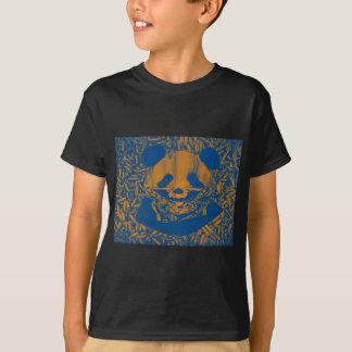 薄青く黄色いギャングのパンダ Tシャツ