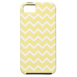 薄黄色および白いジグザグ形 iPhone SE/5/5s ケース