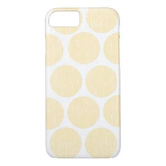 薄黄色の動揺してな水玉模様のiPhone 7 iPhone 8/7ケース