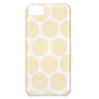 薄黄色の動揺してな水玉模様のiPhone iPhone5Cケース