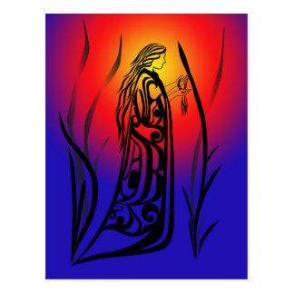 薬の女性の日の出の祈りの言葉 ポストカード