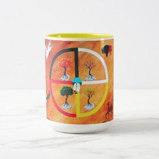 薬の車輪のマグ ツートーンマグカップ