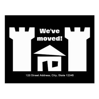 薬中療養所および新しい住所の移動郵便はがき ポストカード