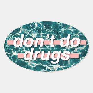 薬剤のポップアートをしないで下さい 楕円形シール