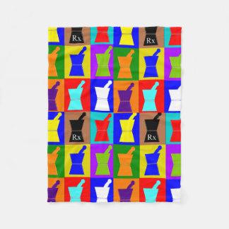 薬剤師のフリースブランケットのポップアートのデザイン フリースブランケット