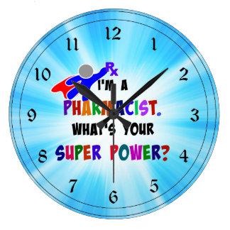 薬剤師のユーモア ラージ壁時計