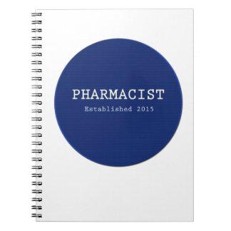 薬剤師は2015年を確立しました ノートブック