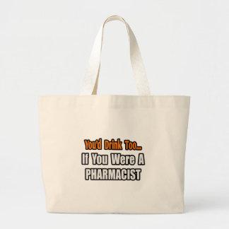 …薬剤師を余りに飲みます ラージトートバッグ
