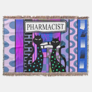 薬剤師PharmDによって編まれる総括的な猫の抽象芸術 スローブランケット
