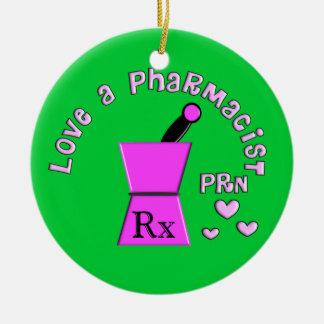 薬剤師PRNのクリスマスのオーナメントを愛して下さい セラミックオーナメント