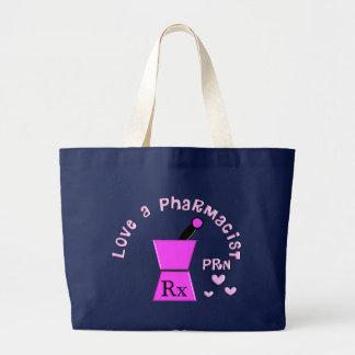 薬剤師PRN乳棒および乳鉢のデザインを愛して下さい ラージトートバッグ