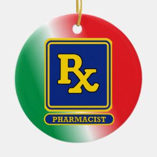 薬剤師RXの盾の習慣 セラミックオーナメント