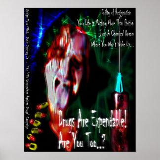 薬剤無し(デザイン2) ポスター
