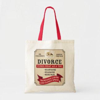薬効がある離婚のラベル トートバッグ