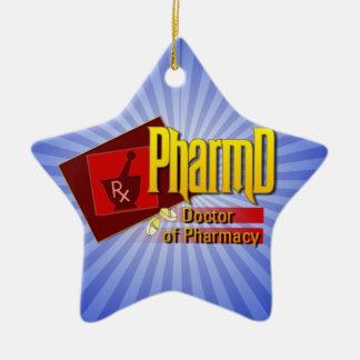 薬学のロゴのPharmDの医者 セラミックオーナメント