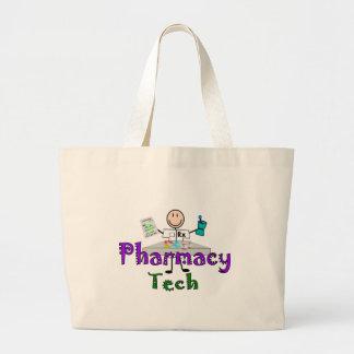 薬学の技術のギフト棒人間たちのデザインの ラージトートバッグ