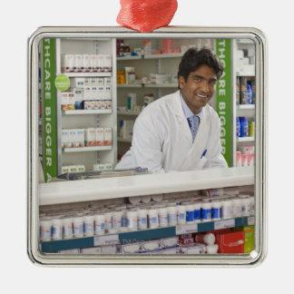 薬学の薬剤師 メタルオーナメント