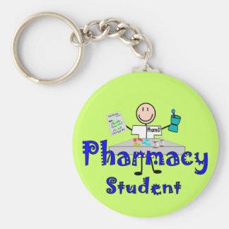 薬学学生のギフト ベーシック丸型缶キーホルダー
