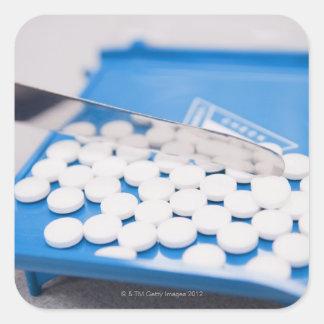 薬学用具、丸薬、薬物 スクエアシール