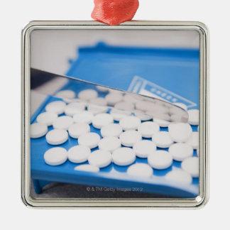 薬学用具、丸薬、薬物 メタルオーナメント