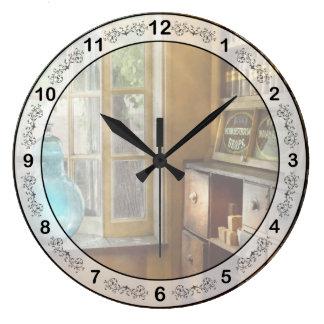 薬学-ショーの地球 ラージ壁時計