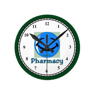 薬学 ラウンド壁時計