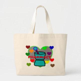 """""""薬学""""数々のな色のハート ラージトートバッグ"""
