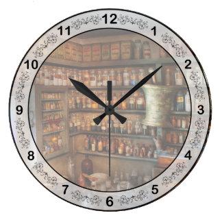 薬学-薬効がある化学 ラージ壁時計