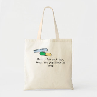 薬物は毎日袋に入れます(精神科医) トートバッグ