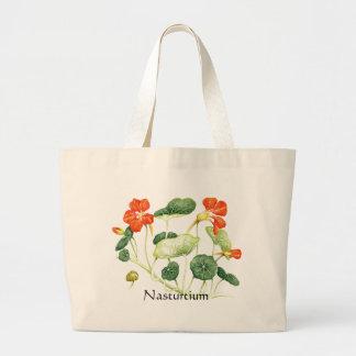 薬草園シリーズ-キンレンカ ラージトートバッグ