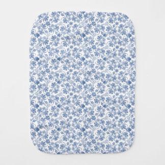 藍色の民族の花柄のベビー用バーブクロス バープクロス