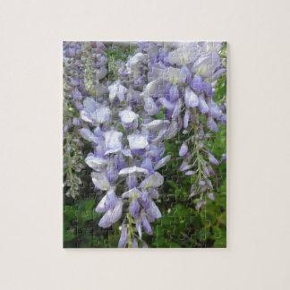 藤のつる植物の紫色によっては野生の花の写真が開花します ジグソーパズル