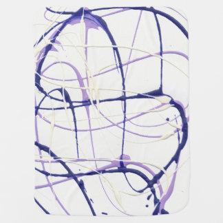 藤の紫色のペンキの(ばちゃばちゃ)跳ねるのベビーブランケット ベビー ブランケット