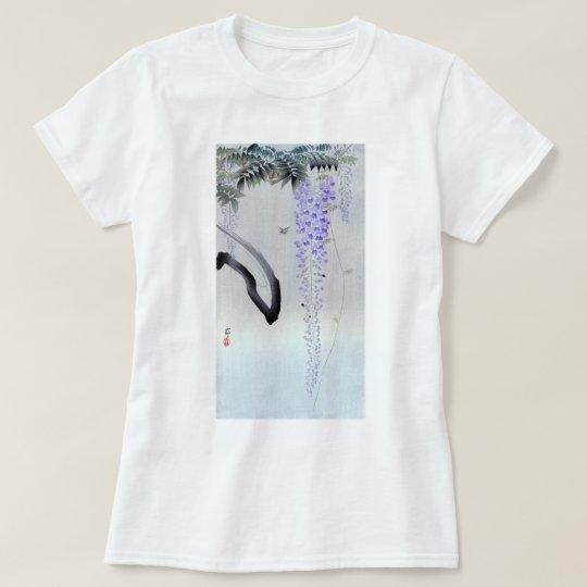 藤の花、古邨の花盛りの藤、Ohara Kosonの木版画 Tシャツ