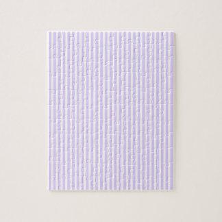 藤の薄紫のラベンダーの蘭及び白のストライプ ジグソーパズル