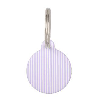 藤の薄紫のラベンダーの蘭及び白のストライプ ペット ネームタグ