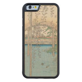 藤またはKameido Tenjinの橋 CarvedメープルiPhone 6バンパーケース