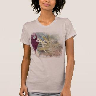 藤色すべての陶器のテーマのワイシャツ Tシャツ