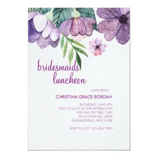 藤色のキンボウゲの招待状 カード