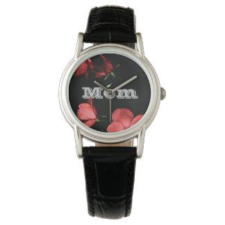 藤色のバラ 腕時計