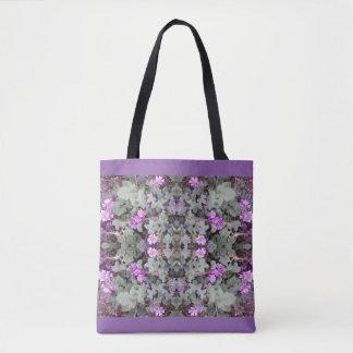 藤色の地上の花のフラクタル2のトートバック トートバッグ