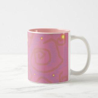 藤色の渦巻 ツートーンマグカップ