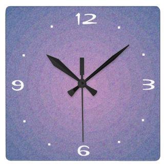 藤色の石造りのデザイン>明白な台所時計 スクエア壁時計