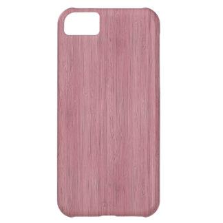 藤色の紫色のタケ木製の穀物の一見 iPhone5Cケース