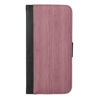 藤色の紫色のタケ木製の穀物の一見 iPhone 6/6S PLUS ウォレットケース